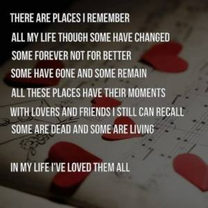 Beatles Song Lyrics