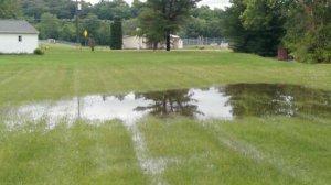 Backyard flood shot