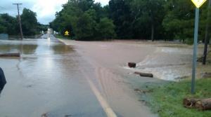 Flood Water Leaving Road